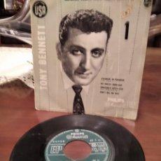 Discos de vinilo: TONY BENNETT EP OJO QUEDAN POCOS CON EL COLOR DE LA GALLETA. Lote 192960716