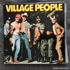 Discos de vinilo: VILLAGE PEOPLE - LIVE AND SLEAZY - LP DOBLE RCA SPAIN 1979. Lote 192966378
