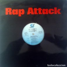 Discos de vinilo: RAP ATTACK - LP MIXED KEY RECORDS INT.1987 - ITALO RAP. Lote 192971726