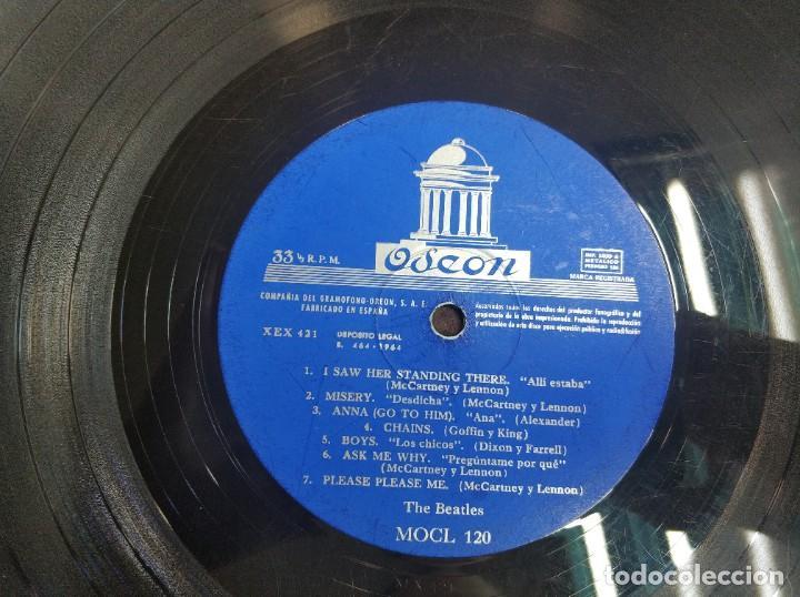 Discos de vinilo: BEATLES - PLEASE PLEASE ME - 1 EDICION MOCL 120 MUCHISIMO USO, PROBADO - LP - Foto 3 - 192779107