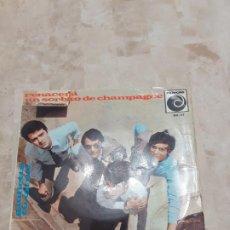 Discos de vinilo: SINGLE LOS BRINCOS UN SORBITO DE CHAMPAN. Lote 192988080