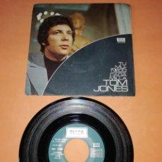 Discos de vinilo: TOM JONES. TU MUÑECO. CADA MILLA. DECCA RECORDS . 1971.. Lote 192990595