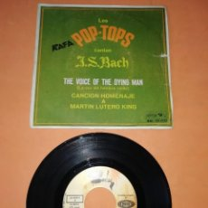 Discos de vinilo: LOS POP TOPS. CANTAN J.S.BACH. THE VOICE OF THE DYING MAN. SONO PLAY 1968. Lote 192997307