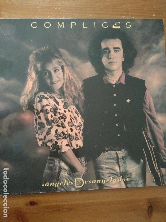 DISCO VINILO COMPLICES ANGELES DESANGELADOS LP RCA - BMG 1989 (Música - Discos - LP Vinilo - Grupos Españoles de los 70 y 80)