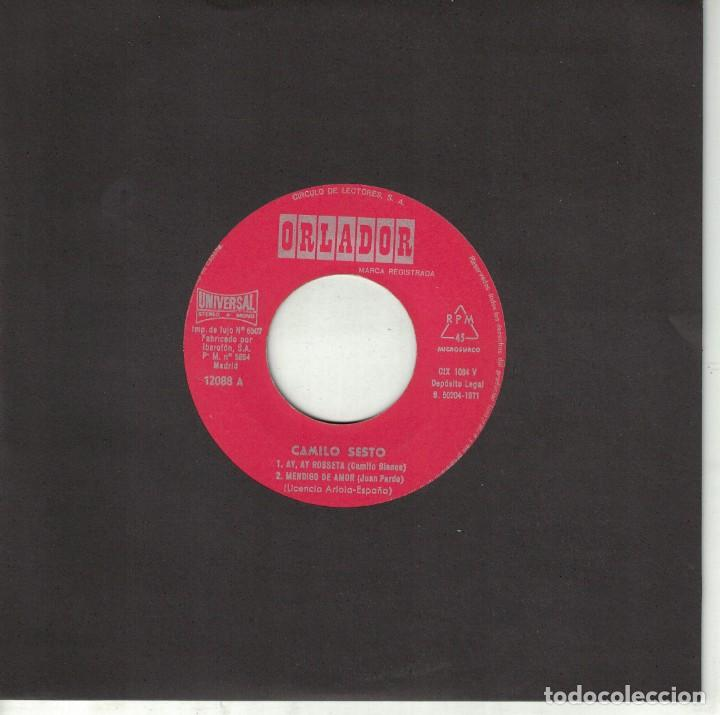 CAMILO SESTO - AY, AY ROSETTA/MENDIGO DE AMOR/A TI, MANUELA/LANZA TU AMOR (Música - Discos de Vinilo - EPs - Solistas Españoles de los 70 a la actualidad)
