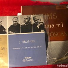 Discos de vinilo: LOTE 2 DISCOS DE VINILO BRAHMS . Lote 193014612