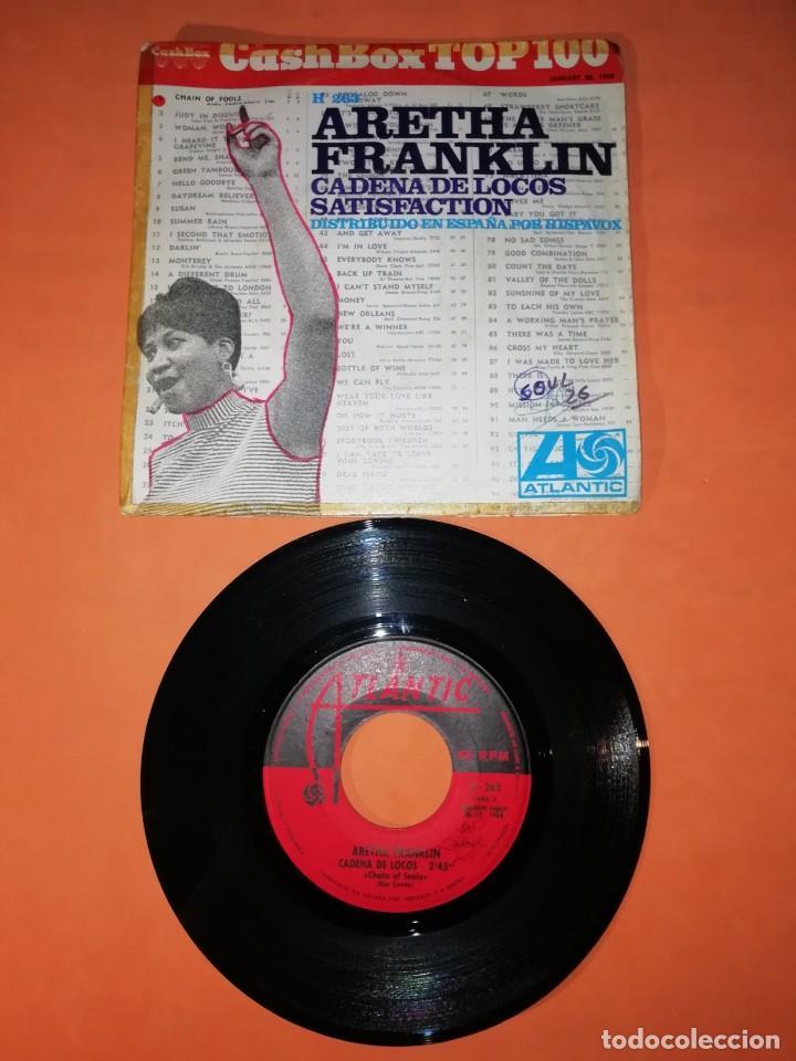 ARETHA FRANKLIN. CADENA DE LOCOS. SATISFACTION. ATLANTIC RECORDS 1968 (Música - Discos - Singles Vinilo - Funk, Soul y Black Music)