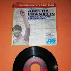 Discos de vinilo: ARETHA FRANKLIN. CADENA DE LOCOS. SATISFACTION. ATLANTIC RECORDS 1968. Lote 203335302