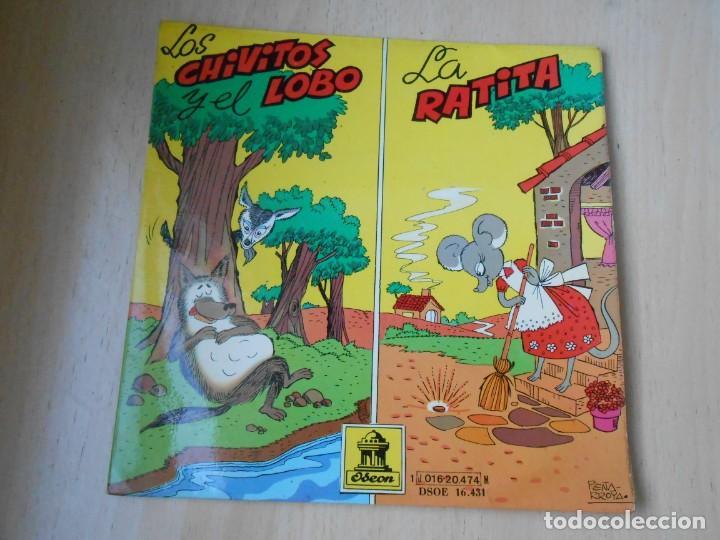 CUENTOS (2) LOS CHIVITOS Y EL LOBO, EP, LA RATITA + 1, AÑO 1961 (Música - Discos de Vinilo - EPs - Música Infantil)