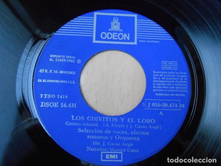 Discos de vinilo: CUENTOS (2) LOS CHIVITOS Y EL LOBO, EP, LA RATITA + 1, AÑO 1961 - Foto 3 - 193019111