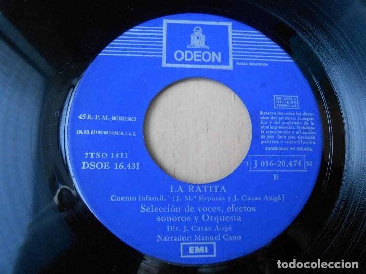 Discos de vinilo: CUENTOS (2) LOS CHIVITOS Y EL LOBO, EP, LA RATITA + 1, AÑO 1961 - Foto 4 - 193019111