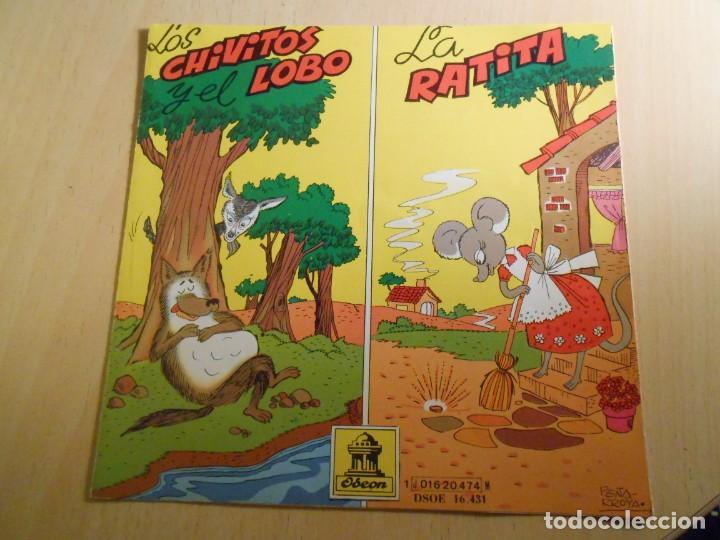Discos de vinilo: CUENTOS (2) LOS CHIVITOS Y EL LOBO, EP, LA RATITA + 1, AÑO 1961 - Foto 5 - 193019111