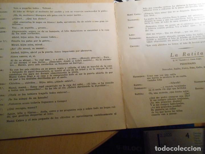 Discos de vinilo: CUENTOS (2) LOS CHIVITOS Y EL LOBO, EP, LA RATITA + 1, AÑO 1961 - Foto 7 - 193019111