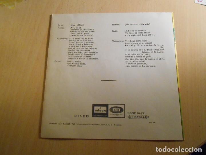 Discos de vinilo: CUENTOS (2) LOS CHIVITOS Y EL LOBO, EP, LA RATITA + 1, AÑO 1961 - Foto 8 - 193019111