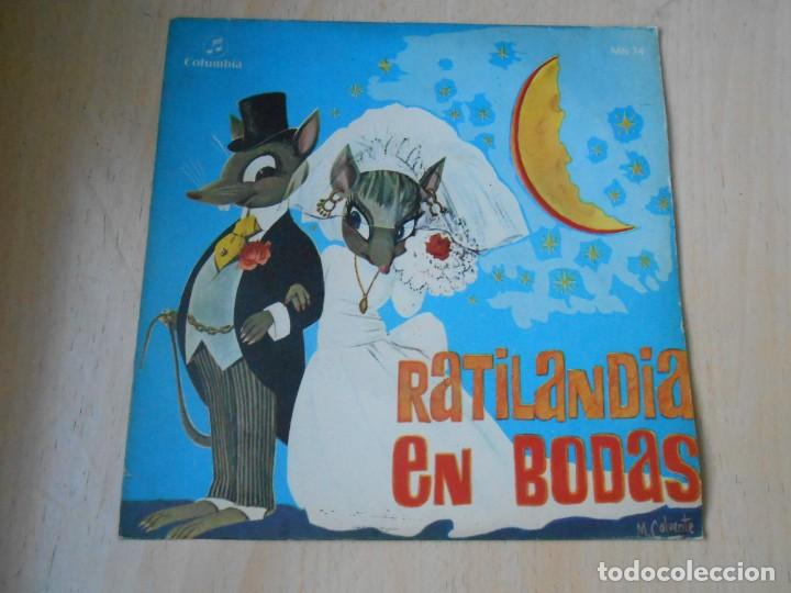 CUENTO INFANTIL - RATILANDIA EN BODAS -, SG, RATILANDIA EN BODAS + 1, AÑO 1969 (Música - Discos de Vinilo - EPs - Música Infantil)