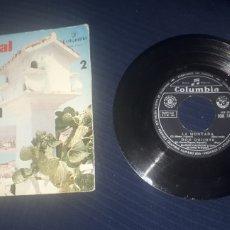 Discos de vinilo: PRIMER FESTIVAL DE LA CANCIÓN ESPAÑOLA DE BENIDORM COLUMBIA 1959. Lote 193034192