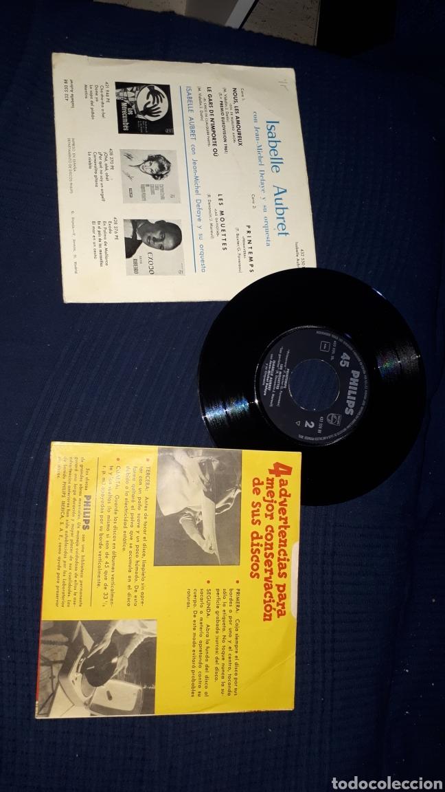 Discos de vinilo: ISABELLE AUBRET NOUS LES AMOUREUX PRIMER PREMIO FESTIVAL DE EUROVISION 1961 - Foto 2 - 193036041
