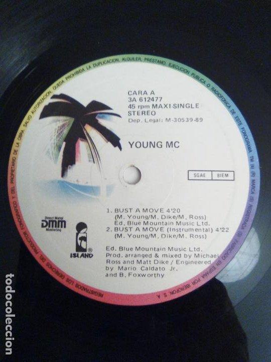Discos de vinilo: YOUNG M.C. Bust a move ( 1989 ISLAND ESPAÑA ) - Foto 3 - 193037771