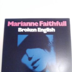 Discos de vinilo: MARIANNE FAITHFULL BROKEN ENGLISH / WHY D'YA DO IT ( 1979 ANTILLES USA ) . Lote 193038082