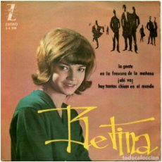 Discos de vinil: BETINA - LA GENTE (GUIJARRO-ALGUERÓ) - EP SPAIN 1964 - ZAFIRO Z-E 508. Lote 193038962