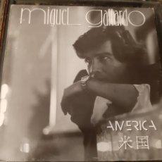 Discos de vinil: MIGUEL GALLARDO. AMERICA. MERCURY. 1988.. Lote 193040467