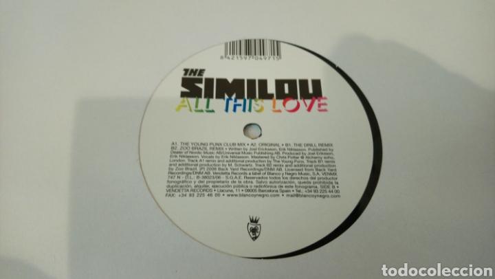 Discos de vinilo: The Similou–All This Love . Maxi vinilo electro House - Foto 2 - 193057538