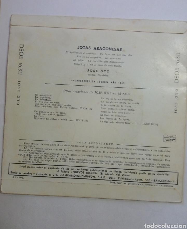 Discos de vinilo: Vinilo Jotas Aragonesas José Oto acomp Rondalla - Foto 2 - 193064077