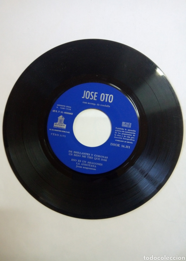 Discos de vinilo: Vinilo Jotas Aragonesas José Oto acomp Rondalla - Foto 4 - 193064077