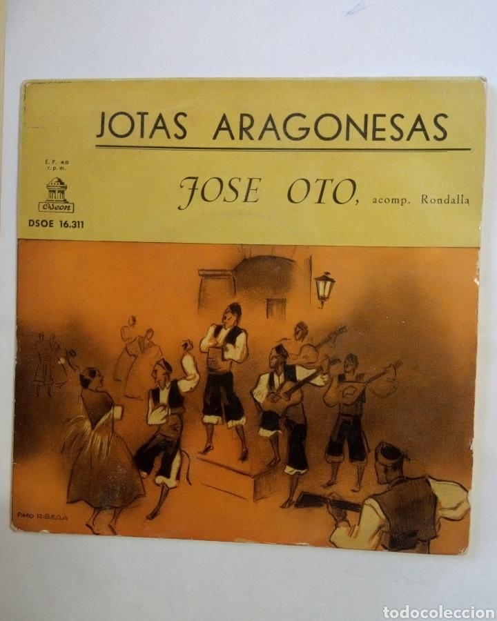 VINILO JOTAS ARAGONESAS JOSÉ OTO ACOMP RONDALLA (Música - Discos de Vinilo - EPs - Cantautores Españoles)
