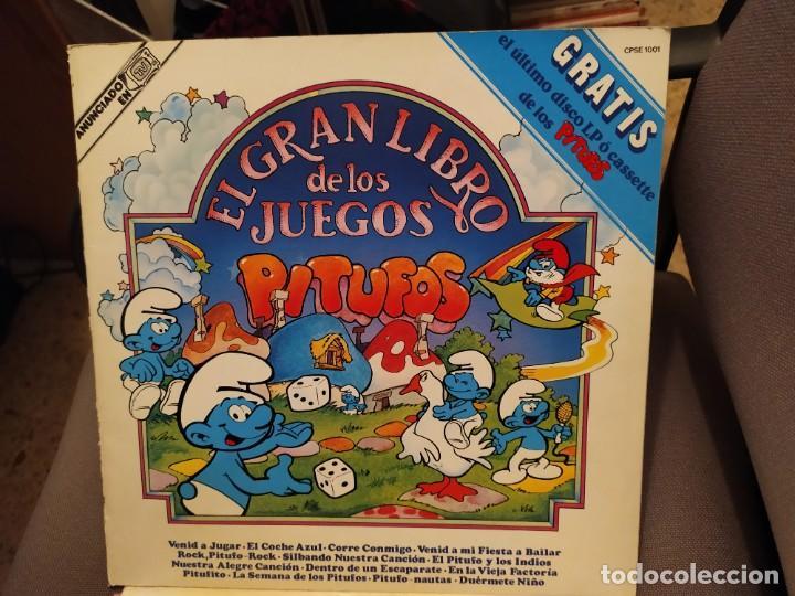 EL GRAN LIBRO DE LOS JUEGOS: LOS PITUFOS - LIBRO Y DISCOS CARNABY 1981 CON JUEGOS (Música - Discos - LPs Vinilo - Música Infantil)