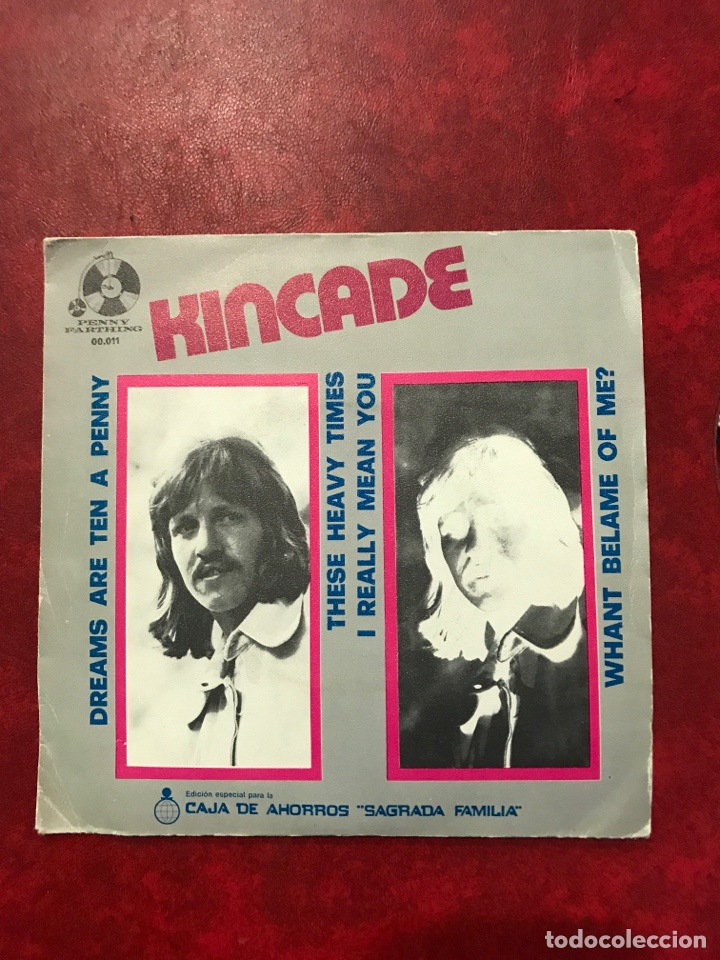 KINCADE SINGLE DE 1973 (Música - Discos de Vinilo - EPs - Pop - Rock Extranjero de los 70	)