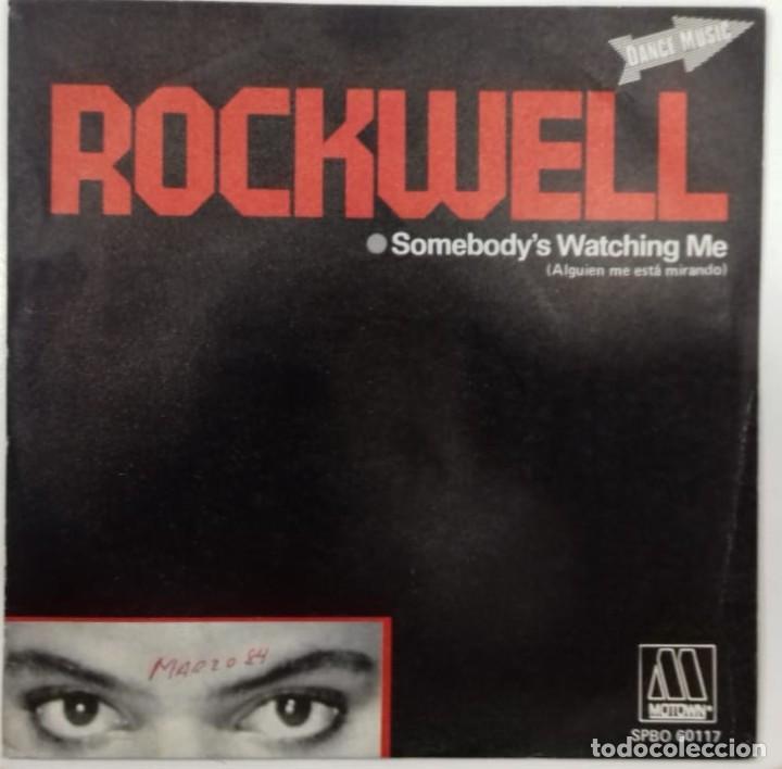 ROCKWELL - SOMEBODY´S WATCHING ME (ALGUIEN ME ESTA MIRANDO) SG ED. ESPAÑOLA 1984 (Música - Discos - Singles Vinilo - Electrónica, Avantgarde y Experimental)