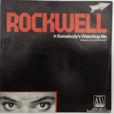 Discos de vinilo: ROCKWELL - SOMEBODY´S WATCHING ME (ALGUIEN ME ESTA MIRANDO) SG ED. ESPAÑOLA 1984. Lote 193070320