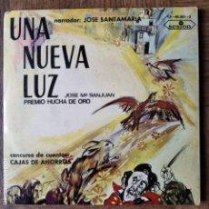 Discos de vinilo: UNA NUEVA LUZ, CONCURSO DE CUENTOS- 4 CUENTOS 2 SINGLES EN DOBLE CARPETA, NARRADOS POR ACTORES. Lote 193087406