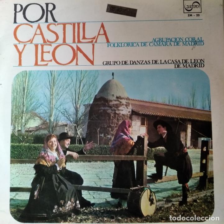 POR CASTILLA Y LEON- LP 1966+ LIBRETO - FOKLORE- (Música - Discos - LP Vinilo - Étnicas y Músicas del Mundo)