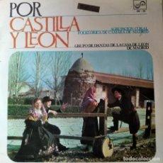 Discos de vinilo: POR CASTILLA Y LEON- LP 1966+ LIBRETO - FOKLORE-. Lote 193087673