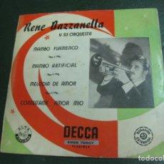 Discos de vinilo: RENE BAZZANELLA Y SU ORQUESTA. MAMBO FLAMENCO + 3. EP DECCA EDGE 70607. . Lote 193114273