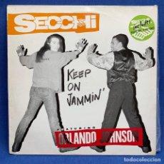 Discos de vinilo: LP. SECCHI KEEP ON JAMMIN'. ESTUCHE VG++ VINILO VG++ . Lote 193117913