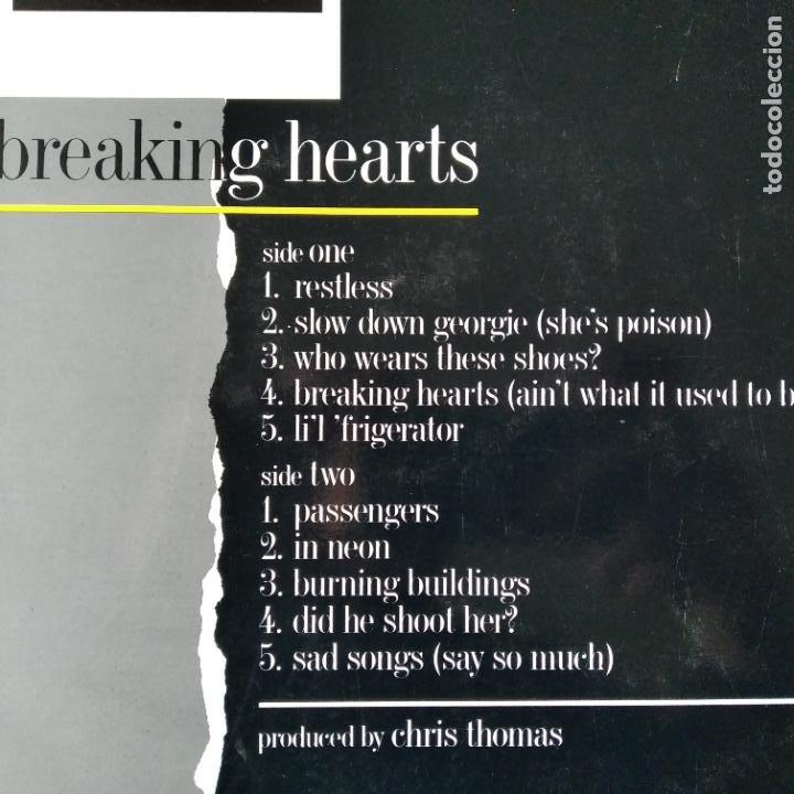 Discos de vinilo: ELTON JOHN - BREAKING HEARTS - LP 1984 - Foto 2 - 193173106