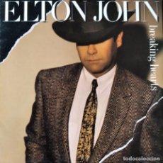 Discos de vinilo: ELTON JOHN - BREAKING HEARTS - LP 1984. Lote 193173106