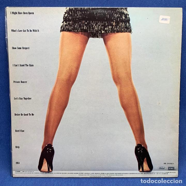 Discos de vinilo: TINA TURNER PRIVATE DANCER LP. ESTUCHE VG+ VINILO VG+ - Foto 2 - 193176952