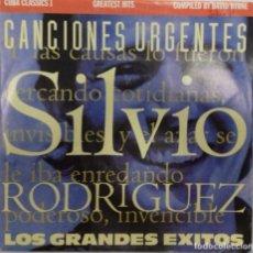 Discos de vinilo: SILVIO RODRIGUEZ - CANCIONES URGENTES LOS GRANDES EXITOS SG PROMO ED. ESPAÑOLA 1990. Lote 234719585
