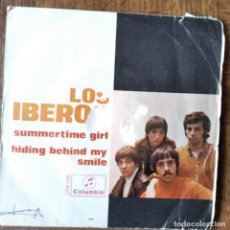 Disques de vinyle: LOS IBEROS - SUMMERTIME GIRL/ HIDING BEHIND MY SMILE. Lote 193207678