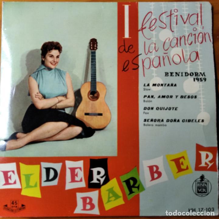 I FESTIVAL DE LA CANCION ESPAÑOLA BENIDORM 1959- ELDER BARBER CON AUGUSTO ALGUERO EP (Música - Discos de Vinilo - EPs - Otros Festivales de la Canción)