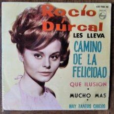 Discos de vinilo: ROCIO DURCAL EP 1964- CAMINO DE LA FELICIDAD/ QUE ILUSION +2. Lote 193211302