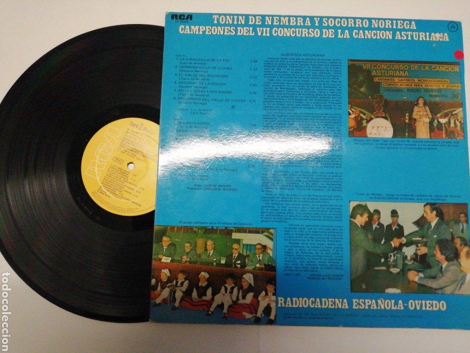 Discos de vinilo: Alborada Asturiana Tonin de Nembra y Socorro Noriega Radiocadena española-Oviedo VII concurso - Foto 2 - 193223740