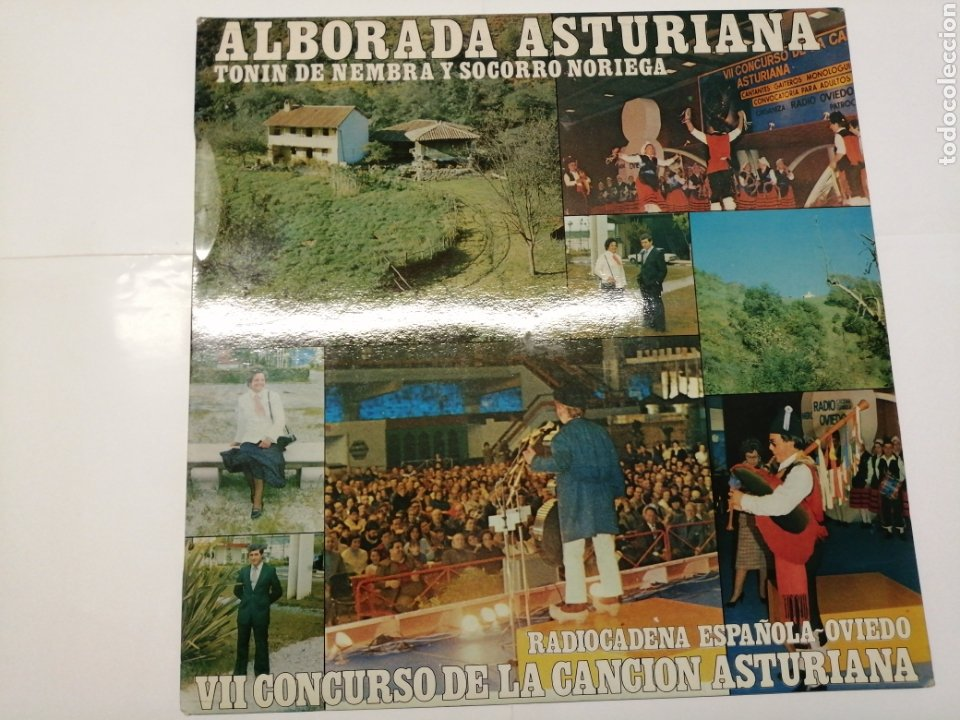 ALBORADA ASTURIANA TONIN DE NEMBRA Y SOCORRO NORIEGA RADIOCADENA ESPAÑOLA-OVIEDO VII CONCURSO (Música - Discos - LP Vinilo - Otros Festivales de la Canción)