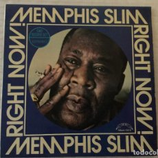 Discos de vinilo: RIGHT NOW / MEMPHIS SLIM. MADRID, 1977. DOBLE LP. Lote 193244405