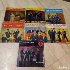 Discos de vinilo: LES ALCARSON- LOTE DE SIETE EP DE CUATRO TEMAS-ORIGINALES-. Lote 193269357