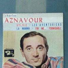 Discos de vinilo: CHARLES AZNAVOUR EP. SYLVIE +3.. Lote 193276803